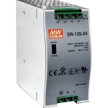 24 V/5 A, 120 W Single Output Industrial DIN Rail Power Supply
