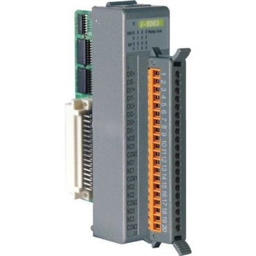 4-channel Isolated Digital Input and 4-channel Relay Output Module (Gray Cover)