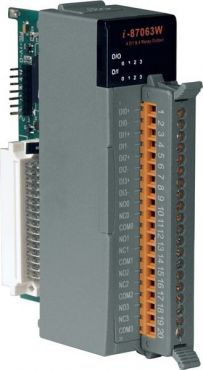4-channel Isolated Digital Input and 4-channel Relay Output Module with 16-bit Counters