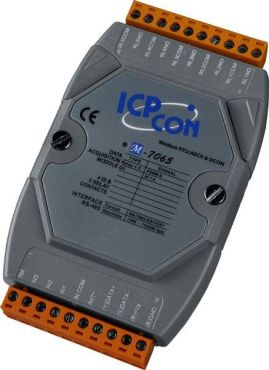 4-channel Isolated Digital Input and 5-channel Relay Output Module with 16-bit Counters (Gray Cover)