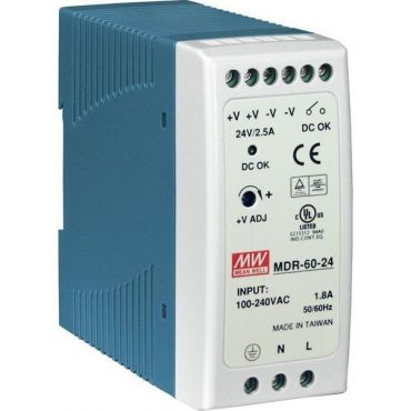 60 W Single Output Industrial DIN Rail Power Supply
