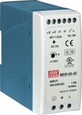 48 V/1.25 A, 60 W Single Output Industrial DIN Rail Power Supply