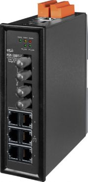 MSM-508FT-T CR6-Port Layer 2 Managed Switch with 2-Fiber Port, Multi Mode, ST Type (RoHS)