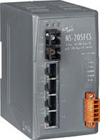 Unmanaged 4-Port Industrial 10/100 Base-T(X) with 100 Base-FX Fiber Switch