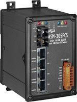Unmanaged 4-Port Industrial 10/100 Base-T with 100 Base-FX Fiber Switch