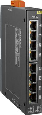 8-Port Industrial 10/100 Mbps Ethernet with 4-PoE (PSE) Switch with metal casing