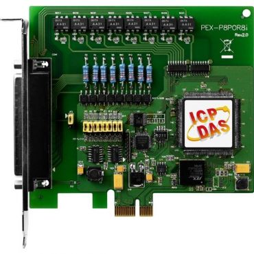 PCI Express, 8-channel isolated digital input, 8-channel PhotoMos relay output