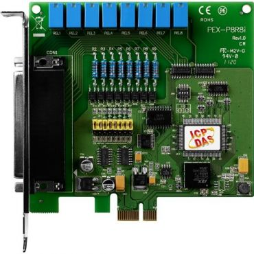 PCI Express 8-channel Isolated Digital Input, 8-channel Relay Output