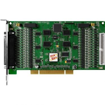 Universal PCI, 32-channel Optical-Isolated Digital Input and 32-channel Optical-Isolated Open Collector Output Board (Source, PNP)