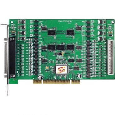 Universal PCI, 32-channel Optical-Isolated DI and 32-channel Optical-Isolated Open Collector DO Board (Sink, NPN, 8-channel for high driving)