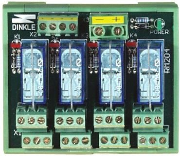 4-channel DIN-Rail mounting power relay module, 2 form C