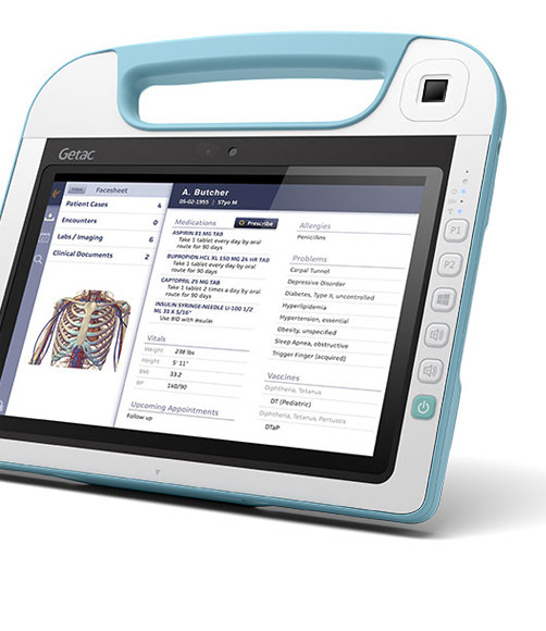 Getac RX10 Fully Rugged Medical Tablet