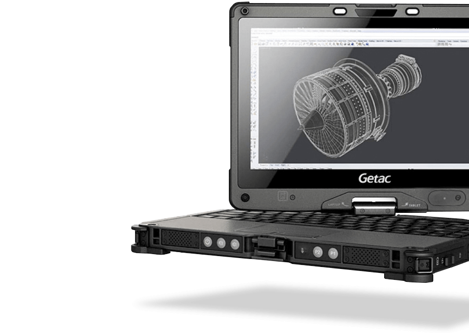 Getac V110 Fully Rugged Convertible Tablet
